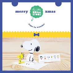 Xmas gift idea: Post a 3D Snoopy & Woodstock card! Also available are Charlie Brown, Lucy & Sally. http://shop.thelittledromstore.com/product/snoopy
