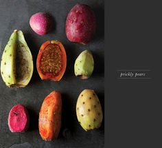 Mexico's Prickly Pear Cactus Fruits - a refreshing snack. In Oaxaca, they spoon a dollop of pureed cactus fruit on top of horchata (a milky rice-almond drink). Fruit And Veg, Fruits And Veggies, Fresh Fruit, Pear Fruit, Photo Fruit, Mexican Food Recipes, Healthy Recipes, Prickly Pear Cactus, Opuntia Cactus