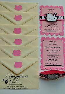 hello kitty birthday party invitations in silhouette cameo hello kitty birthday invitations #silhouettecameo #cricut #card #birthday #babyshower #invitations #jingvitations #hellokitty #ilovehellokitty