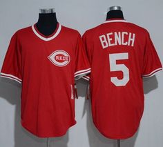 4ff6216c7 Mitchell And Ness 1983 Reds  5 Johnny Bench Red Throwback Stitched MLB  Jersey Cheap Baseball