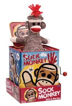 Jack-in-the-Box 166785: Sock Monkey Jack In The Box , New, Free Shipping -> BUY IT NOW ONLY: $30.5 on eBay!