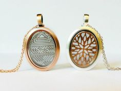 Oval lockets with screens...waiting for a charm