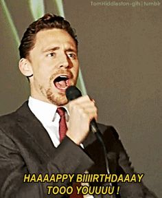 I wouldn't mind him singing happy birthday to me :3