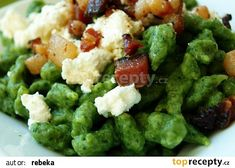 Špenátové noky - halušky recept - TopRecepty.cz Guacamole Recipe Easy, How To Make Guacamole, Weekend Meal Prep, Gnocchi Recipes, Chia Pudding, Mashed Potatoes, Spinach, Dairy Free, Easy Meals