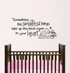 Sometimes the Smallest Things: Winnie the Pooh - Wall or Window Decal