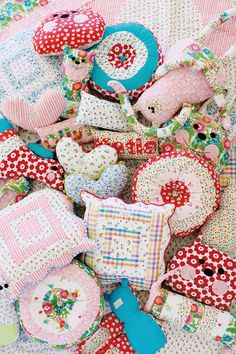 Quilted pincushions