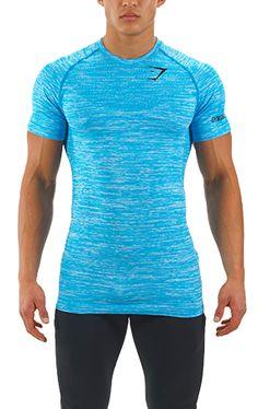 7ce4275df6 GymShark Seamless T-Shirt - Aqua - T-Shirts - Mens Sport T Shirt
