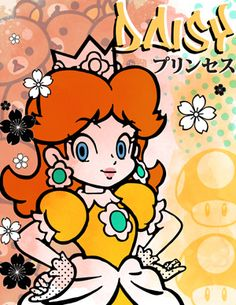 Princess Daisy Street Art Poster by AnimeLovers on Etsy!