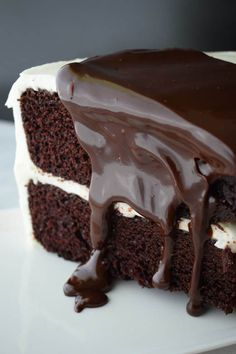 Best Chocolate Cake Ever! One Bowl Chocolate Cake Recipe, Best Chocolate Cake, Cake Recipes, Dessert Recipes, Desserts, Deserts With Cream Cheese, Delicious Recipes, Yummy Food, Strawberry Wine
