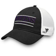 5104bcb2c Men s Baltimore Ravens NFL Pro Line by Fanatics Branded Black White Primary  Bar Trucker Adjustable Hat