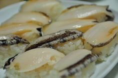 Sushi awabi (abalone) - Hated this with a passion!