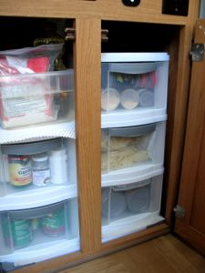 slide out big cabinet drawer canned goods storage dave. Black Bedroom Furniture Sets. Home Design Ideas