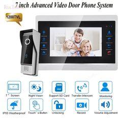 "10/"" ultra-big screen video door phone kit with High Definition Camera RFID balises"