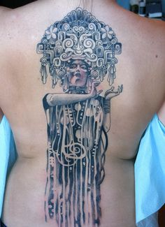 Tattoo of Klimt's Hygieia gone Native by Corey Crowley by Corey Crowley, via Flickr