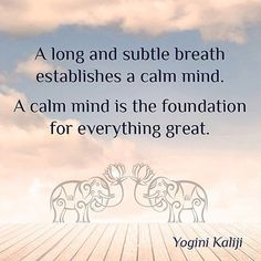 Breath and mind