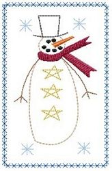 Snowman 5x7 Towel Set - 4 Designs! | Primitive | Machine Embroidery Designs | SWAKembroidery.com HeartStrings Embroidery
