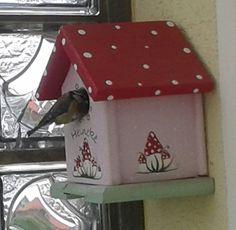 """Vogelhaus """"Familienname""""(individualisierbar) von Holzallerliebst auf DaWanda.com"""