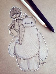 Hiro and Baymax Big hero 6 by Cyarin on deviantART ★ Find more at http://www.pinterest.com/competing/