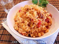 Si buscas un plato rápido y delicioso con arroz, pruebe éste en el que se cocina con atún en aceite