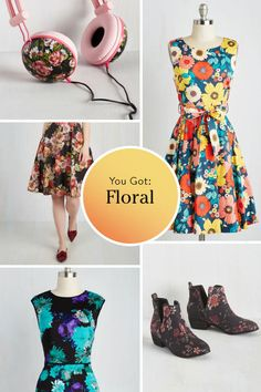 Quiz: What's Your Pattern Personality? Of course I got floral; it must be my inner Mary Margaret Blanchared crying to be heard.. - Story by ModCloth