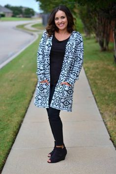 Cardigan Sewing Pattern for Women - Claire Cardigan Sewing pattern by Seamingly Smitten pdf sewing pattern all sizes included XS-XXXL *Pattern prints on US Letter size paper, A4 size paper and we even include an A0 copy shop size for you! Looking for a long line cardigan that