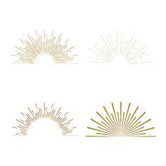 Minimal vintage gold firework burst icon by Design Elements, Design Art, Web Design, Branding Design, Logo Design, Graphic Design, Fireworks Design, Logo Simple, Sun Illustration