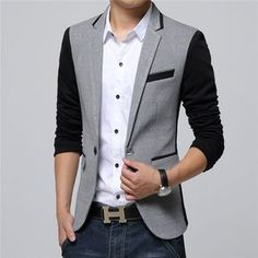 Men's Clothing Hard-Working Shanghai Story Fashion Mens Casual Autumn Blazer Jacket Coat Designs Slim Fit Blazer M-xxxl Casual Grey Long Blazer For Men Factories And Mines Trench