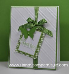 Stampin' Up! Tag A Bag Accessory Kit Simple Card created by Hand Stamped Style, THANKS for checking out my PIN for more info visit my BLOG and FACEBOOK PAGE http://www.facebook.com/handstampedstyle