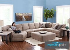 Monterey 3 Pc. (Reverse) Sectional with Cuddler Chaise