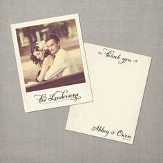 These wedding postcards would make perfect thank you cards!