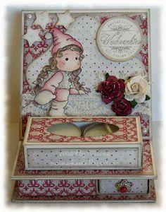 Magnolia Easel Card Tealight Match Box - Marinas Karten-Kiste: Weihnachts-Sterne