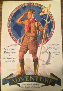 1934 Boy Scouts 24th Annual Meeting Buffalo, NY Program cover