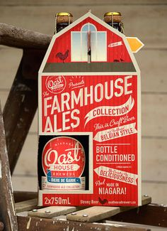 All good farm house ales need a barn of course. This is how easy it was to create the new 2 pack carry case for Niagara Oast House Brewers' Farmhouse Ales collection. The case was custom designed a...