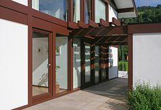 Kundenhaus - Brixental | Außenansicht Eingangsbereich | Finden sie mehr Informationen zu diesem Kundenhaus auf http://www.davinci-haus.de/haeuser-standorte/kundenhaeuser/wilder-kaiser-brixental/ #Traumhaus #Fertighaus #Holfachwerk