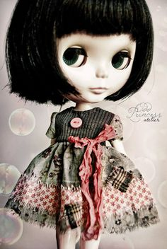 PETIT SECRET Vintage Romantic Ooak Dress For BLYTHE by oddprincess