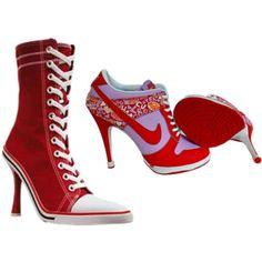 the tennis shoe heel....hopefully never popular...