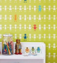 Boys Bedroom Wallpaper from 4id Interiors