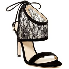 Ivanka Trump Daza Ankle Cuff Sandal (6,015 INR) ❤ liked on Polyvore featuring shoes, sandals, blmfb, flower print shoes, floral print shoes, open toe high heel shoes, floral pattern shoes and open toe shoes