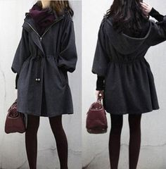 Wool Trench Coat Parka Jacket - cute style but I I have not had good luck with non brand imports | eBay