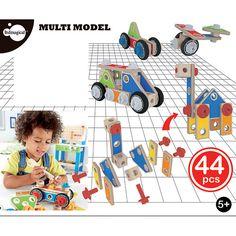 Conjunto de 44 peças de construção em madeira MULTI MODEL 44 PCS