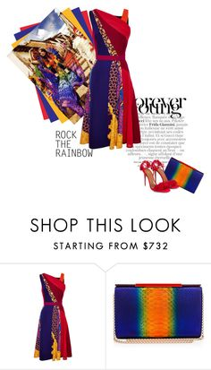 """Rainbow"" by theitalianglam ❤ liked on Polyvore featuring Gucci, Peter Pilotto, Christian Louboutin, Aquazzura, women's clothing, women's fashion, women, female, woman and misses"