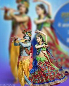 Image may contain: 2 people, people standing, possible text that says ' Radha Krishna Holi, Krishna Leela, Cute Krishna, Radha Rani, Krishna Art, Lord Krishna Images, Radha Krishna Pictures, Krishna Photos, Radhe Krishna Wallpapers