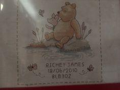 Winnie the Pooh birth sampler by Anchor