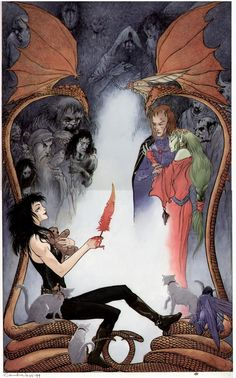 Books of Magic #4 cover by Charles Vess, featuring Death of the Endless
