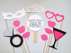12Piece Bachelorette Photo Booth Props  by CleverMarten on Etsy