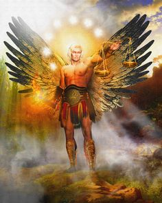 Angel Art and a brief introduction to Angelology; New Pictures of Angels by Howard David Johnson featuring oil paintings, prismacolors and d...