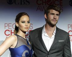 Jennifer Lawrence and Liam Hemsworth are promoting THE HUNGER GAMES coming out in 2 weeks. IM DYING