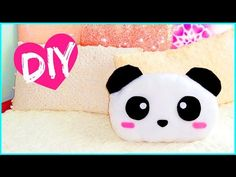 ▶ DIY ROOM DECOR! Cute panda pillow (Sew/no sew) | Lovely gift idea! - YouTube