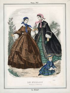 Le Follet. May 1861. LAPL Visual Collections.  Civil War Era Fashion Plate