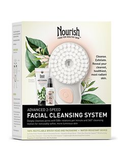 Cleanse, exfoliate and massage in one easy step, with this eco-friendly, advanced 2-speed facial cleansing tool. Palm-sized and shower-safe, it...